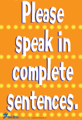 Poster: Complete Sentences/ENGLISH