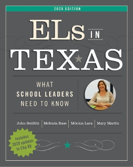 book cover title: ELs in Texas: What School Leaders Need to Know