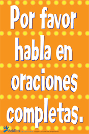 Poster: Complete Sentences/SPANISH
